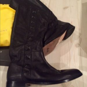 Cynthia Steffe Tansy Black knee high leather boots